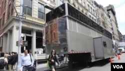 El camión estaba entre las calles Broome y Greene del barrio Soho en Nueva York.