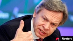 Alexei Pushkov, Chairman of the Russian State Duma Committee on International Affairs (file photo)