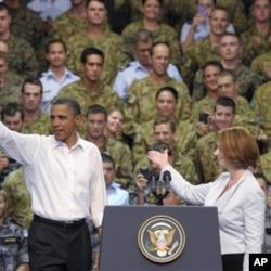 سهرۆک ئۆباما ستایشی هاوپهیمانی ئهمهریکا و ئوسترالیا دهکات