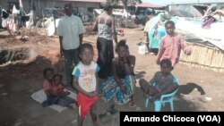 Des réfugiés congolais dans la province de Lunda Norte, Angola
