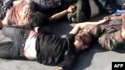 從上載到YouTube片段會面顯示 26名據說屬於親政府民兵的戰鬥人員在敘利亞北部阿勒頗省的一次伏擊中被打死。