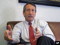 "FILE - U.S. Rep. Mark Sanford, R-S.C., pictured in December 2013, said after a meeting between Donald Trump and GOP lawmakers that ""there are some folks that still have some questions. I remain to be one of them."""