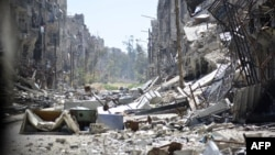 ພາບສະແດງໃຫ້ເຫັນ ສະພາບການຢູ່ໃນສູນອົບພະຍົບ Yarmouk ທີ່ນະຄອນຫລວງ Damascus.
