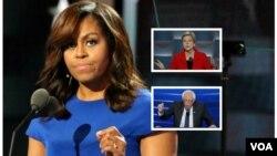 میشل اوباما، الیزابت وارن و برنی سندرز