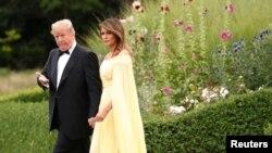 Президент США Дональд Трамп с супругой Меланией. Лондон, Великобритания. 12 июля 2018 г.