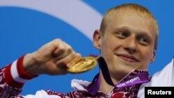 Илья Захаров, олимпийский чемпион по прыжкам в воду с трехметрового трамплина. Лондон, 2012 год