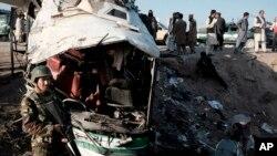 지난 4월 인도 카불 동부 잘라라바드에서 자살폭탄공격이 발생했다. (자료사진)