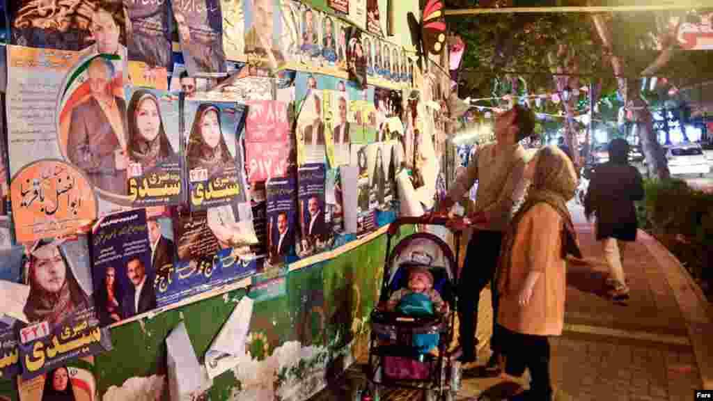 همزمان با انتخابات ریاست جمهوری، انتخابات شوراهای شهر و روستا هم برگزار میشود و شهرها پر از تبلیغات شده است.
