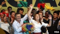 Macri derrotó al candidato de la mandataria Cristina Kirchner, el senador peronista Daniel Filmus.