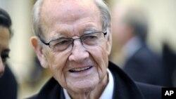 George McGovern, de 89 años, fue hospitalizado en la ciudad de St. Augustine, en Florida.