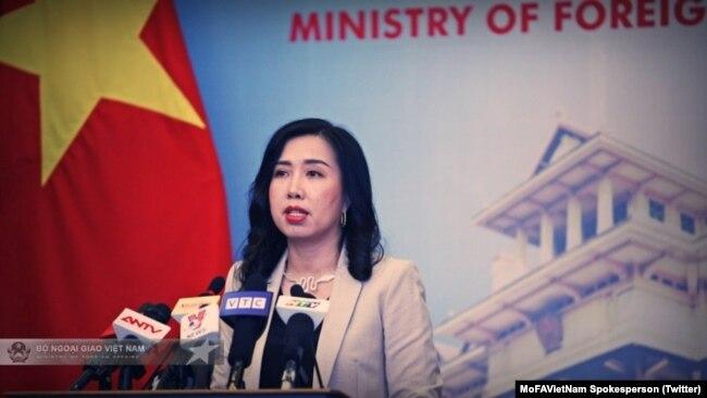 Nữ phát ngôn viên Bộ Ngoại giao Việt Nam Lê Thị Thu Hằng từng phản đối việc Trung Quốc đưa tên lửa ra Trường Sa.