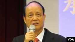 台湾海基会董事长 林中森(美国之音张永泰拍摄)