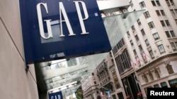 坐落在紐約第五大道上的美國休閒風服飾公司Gap的一家商店 (資料照片)