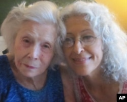 Irene Zola with Dolores Saborido, age 97, a senior who receives help from Morningside Village.
