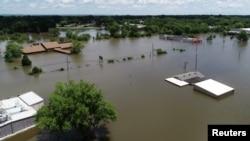 Lũ lụt ở bang Arkansas.