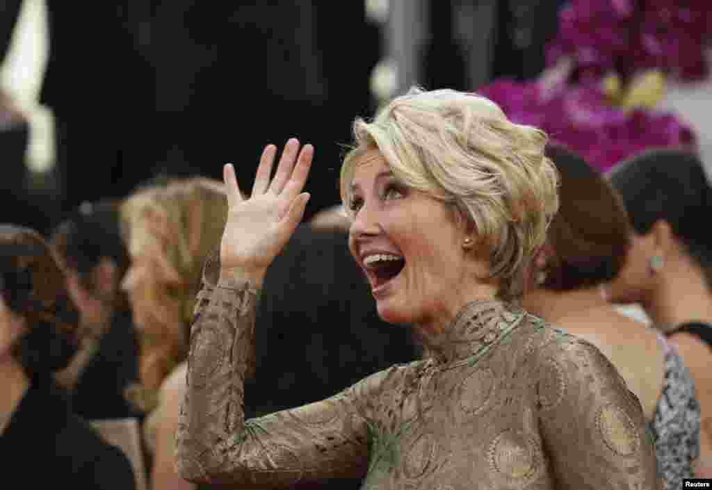 Актриса Эмма Томпсон на церемонии открытия «Золотого глобуса»