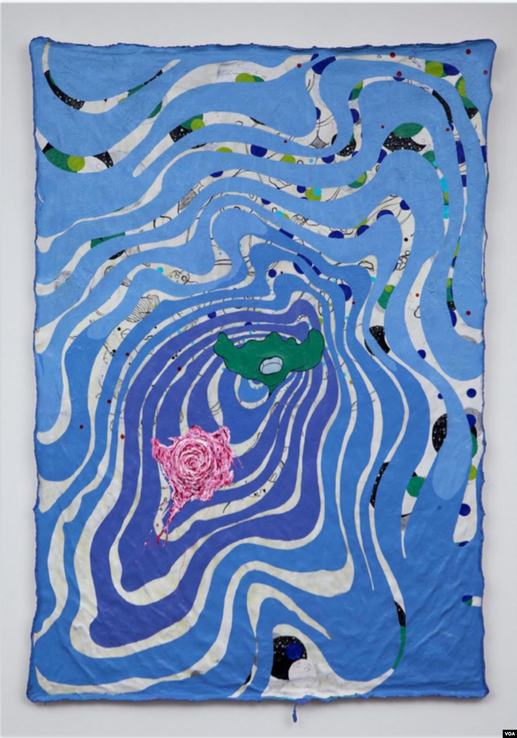 اثر ارائه شده در نمایشگاه آثار هنرمندان ایرانی و کوبایی در نیویورک. از Leslie Sardinias