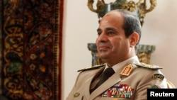 2013年11月14日,埃及陆军司令塞西在开罗的总统府照片。