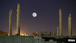 Super moon in Persepolis, Iran