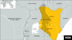 Map of Rift Valley, Kenya