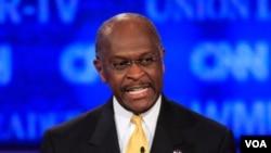 "Cain afirmó en un acto de campaña en Westchester, Ohio, que lo están atacando ""para intentar derribarme""."