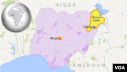 Map of Chibok, Nigeria