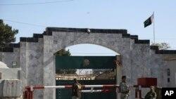 Imbere y'ambasade ya Pakisitani i Kabul muri Afuganisitani
