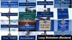 Diversité des quartiers à Los Angeles aux Etats-Unis.