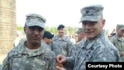 Captain Simratpal Singh graduates from Ranger school. (Photo courtesy of Captain Simratpal Singh)