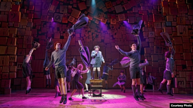 "The Broadway cast of ""Matilda The Musical."" (Photo by Joan Marcus)"