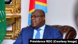Le président Félix Tshisekedi à la cité de l'Union africaine, Kinshasa, RDC, le 18 mars 2019. (Présidence RDC)
