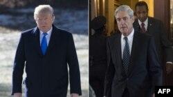 """Tổng thống Donald Trump (trái) cho rằng việc tiết lộ danh sách các câu hỏi mà Công tố viên đặc biệt Robert Mueller (phải) muốn hỏi ông là """"đáng hổ thẹn."""""""