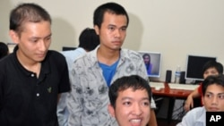 Nguyen Van Giap is a Vietnamese student who recently completed a USAID funded IT training program in Hanoi for youth with disabilities