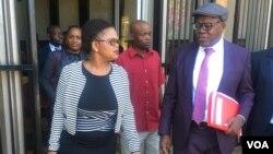 Tendai Biti and his lawyer, Beatrice Mtetwa