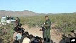 Un groupe d'immigrés clandestins appréhendés