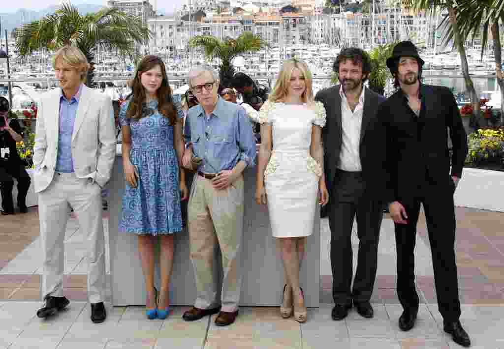 "Woody Allen presenta su película ""Midnight in Paris""."