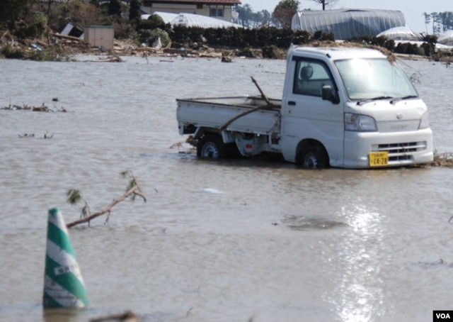 The massive quake on March 11, 2011, unleashed a devastating tsunami upon Japan. (S. Herman/VOA)
