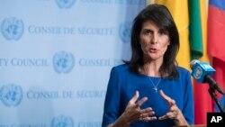 نیکی هیلی نماینده ایالات متحده در سازمان ملل، نیویورک