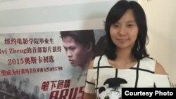 """Livi Zheng, mempromosikan film terbarunya """"Brush with Danger"""" selama berada di Beijing, China (foto: dok)."""