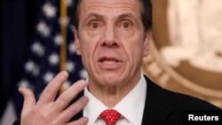 Gobernador del estado de Nueva York, Mario Cuomo.
