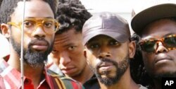 BLK JKS, L to R Mpumi Mcata, Lindani Buthelezi, Molefi Makananise, Tshepang Ramoba. Music critics say they're one of the freshest bands to have emerged from Africa in recent times