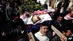 Ðám tang ông Mohamed Ammar, bị giết chết bởi quân đội Syria, ngày 28 tháng 2 năm 2012
