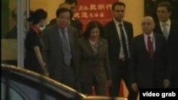 中国接待叙利亚特使 (VOA视频截图)
