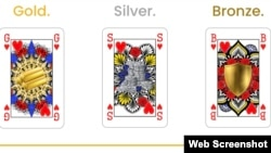 GSB playing cards replace the king, queen and jack.