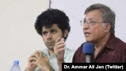 ڈاکٹر پرویز ہود بھائی اور ڈاکٹر عمار جان (فائل فوٹو)