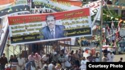 穆尔西的支持者在首都开罗举行集会。