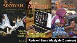 Cover majalah Suara Aisyiyah era 2000-an dan terbaru. (Foto: Redaksi Suara Aisyiyah)