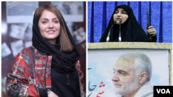 بعد از کشتهشدن قاسم سلیمانی، دختر او در تلویزیون دولتی و برخی مراسم به خونخواهی پدرش سخنرانی کرد.