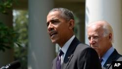 바락 오바마 미국 대통령이 1일 백악관에서 쿠바와 양국간 대사관 재개설을 합의했다고 발표하고 있다.
