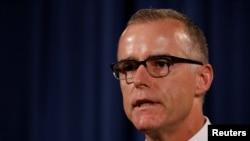 Andrew McCabe nói ông đang bị nhắm mục tiêu vì ông đã chứng thực phát biểu của cựu Giám đốc FBI James Comey rằng Tổng thống Donald Trump đã tìm cách gây áp lực buộc ông Comey chấm dứt cuộc điều tra Nga.